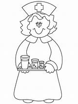 Nurse Coloring Pages sketch template