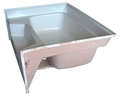 54x27 bathtub center drain mobile home fiberglass garden tub