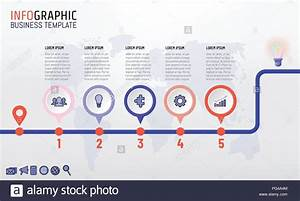 Timeline Infographics Template Design With 5 Steps Start