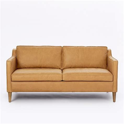 west elm hamilton leather sofa hamilton leather sofa 68 quot west elm