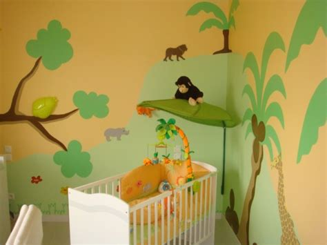 chambre theme jungle déco chambre bebe jungle savane