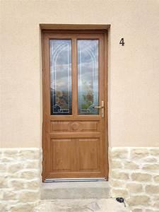 pose porte d39entree bois alu acier bois alu dans l39oise With poser porte d entree