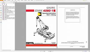 Grove Mobile Crane Gmk4080 Operating Instructions