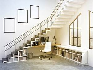 Bureau Sous Escalier : relooker l 39 espace sous escalier 30 id es d co du bureau ~ Farleysfitness.com Idées de Décoration