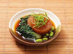 Vegan: Japanese Simmered Daikon with Bok Choy and Edamame ...