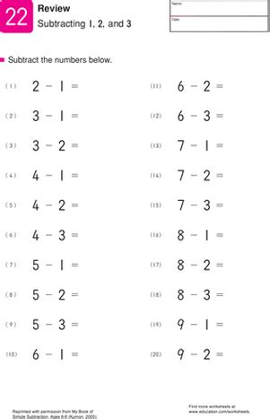 image result for kumon math free printable worksheets