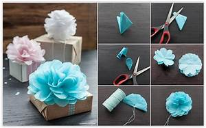 MarySmith — How To Make Tissue Paper Flowers For Gift ...