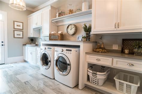 White Kitchen Faucets Pull Out Milton Addition Farmhouse Laundry Room Atlanta By Distinctive Remodeling Solutions Inc
