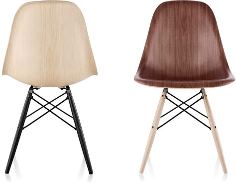 eames 174 molded wood side chair with dowel base hivemodern