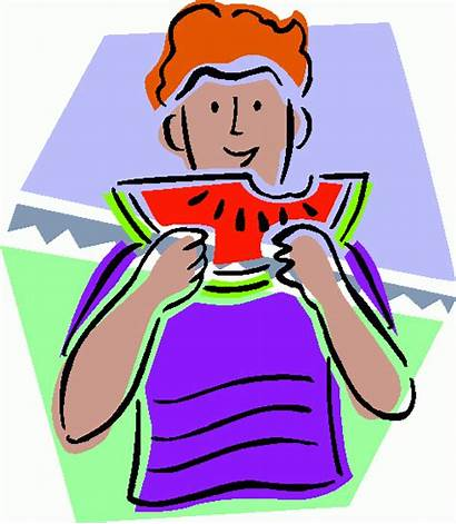 Eating Clipart Watermelon Clip Cliparts Juicy Breakfast
