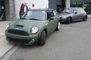 Matte Army Green Mini Cooper