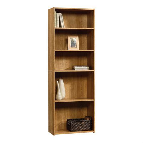 sauder bookcase with sauder beginnings 5 shelf wood bookcase oak finish home