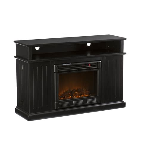 black electric fireplace tv stand kingsbury media black electric fireplace media storage 50