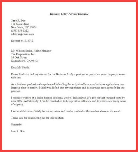 formal letter format sample memo