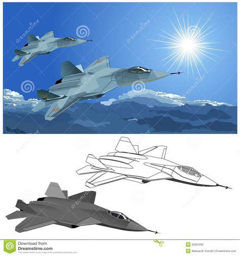 Vector Modern Stealth Fighter Stock Vector