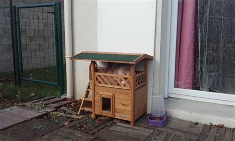 maisonnette lodge niche maison pour chat wanimo