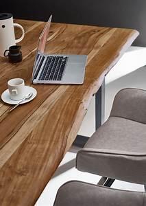 Esstisch Akazie Baumkante : esstisch baumkante massiv akazie natur 140 x 80 silber noah ~ Watch28wear.com Haus und Dekorationen