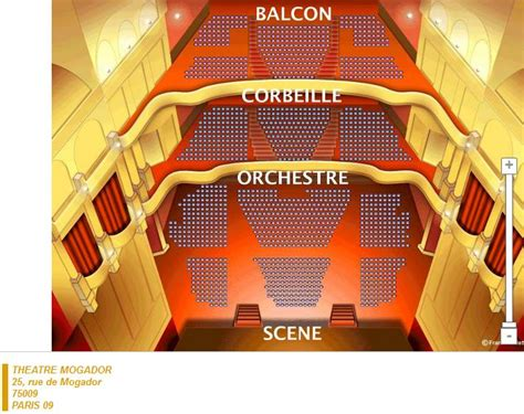 theatre mogador plan salle theatre mogador images