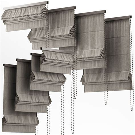 curtains 21 blinds 3d model cgtrader