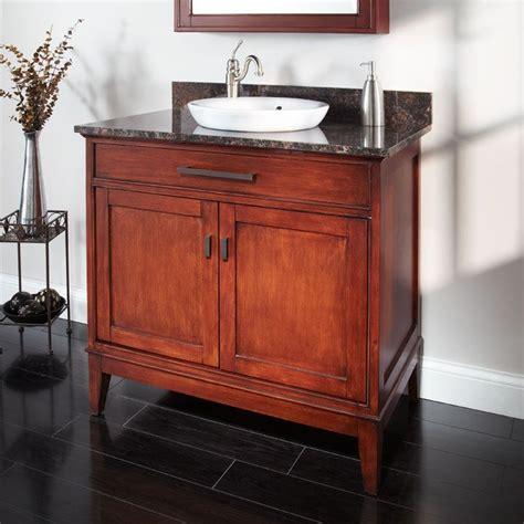 Vintage Bathroom Vanity Cabinet by 36 Quot Tobacco Vanity Cabinet With Semi Recessed