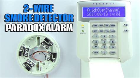 2 wire smoke detector wiring paradox evo alarm panel youtube