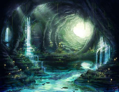 magic cave fantasy fan art  fanpop