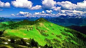 Wolken Hügel landschaften panorama wallpaper ...