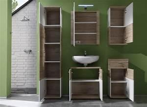 Meuble Rangement Salle De Bain : meuble haut de salle de bain contemporain 1 porte ch ne ~ Edinachiropracticcenter.com Idées de Décoration