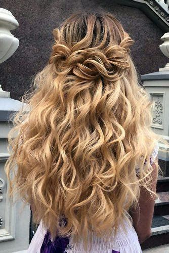 30 wedding hairstyles half up half down with curls and braid