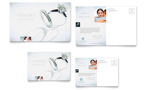 jeweler jewelry store postcard template design