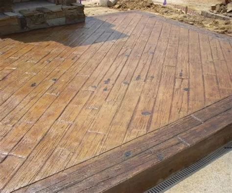 Wood Plank Stamped Concrete Cost