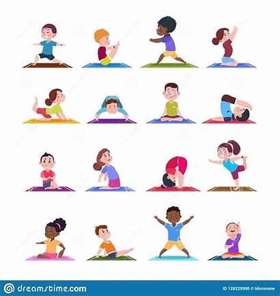 Yoga Poses Pose Child Asana Cartoon Children