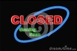 Neon Closed Sign Stock Image
