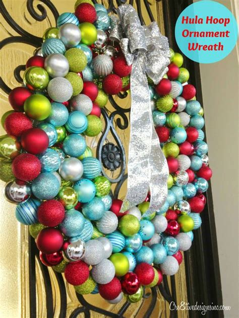 oversized ornament wreath   hula hoop  images