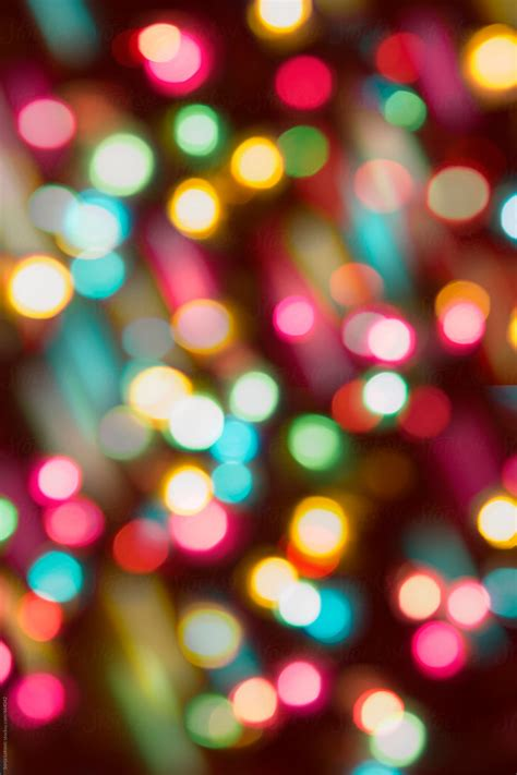 colorful party lights in blur background by Sonja Lekovic