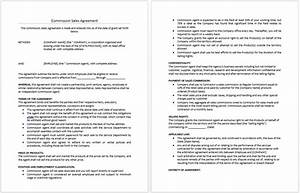 commission sales agreement template templates resume With commision contract template
