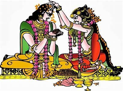 Clipart Bapu Cliparts Colour Marriage Indian Hindu