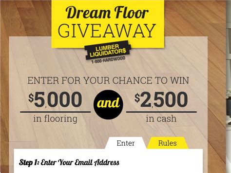 flooring giveaway lumber liquidators dream floor giveaway sweepstakes