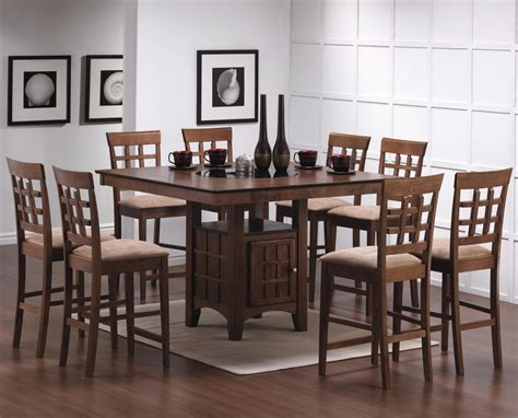 lazy susan with leather counter height casual dining counter height dining table