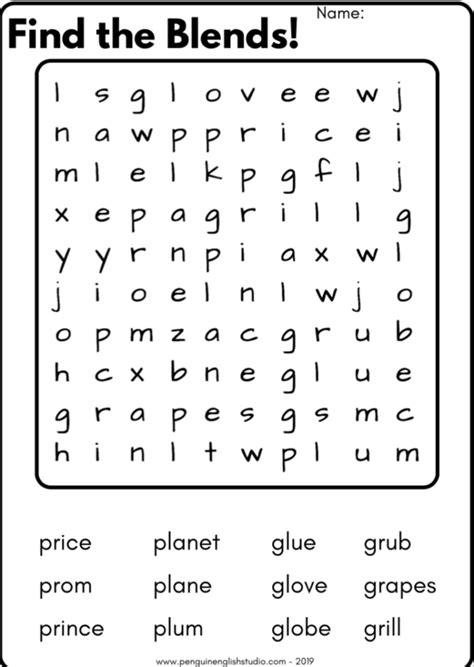 blend reading worksheet gl gr pl pr sound
