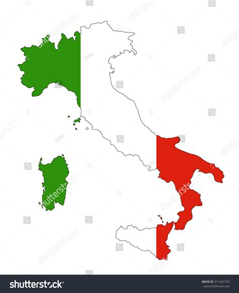 italy map flag stock vector italy map flag inside italy map 스톡 벡터 371467735 ital
