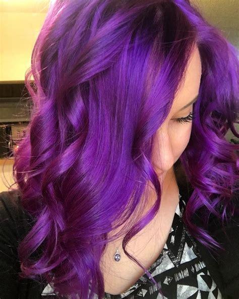 25 Best Ideas About Bright Purple Hair On Pinterest