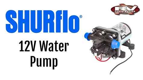 rv water pump shurflo 12 volt 4008 101 e65 youtube