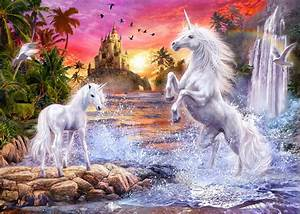 unicorn waterfall sunset wall mural photo wallpaper With kitchen colors with white cabinets with thomas kinkade wall hanging art tapestry