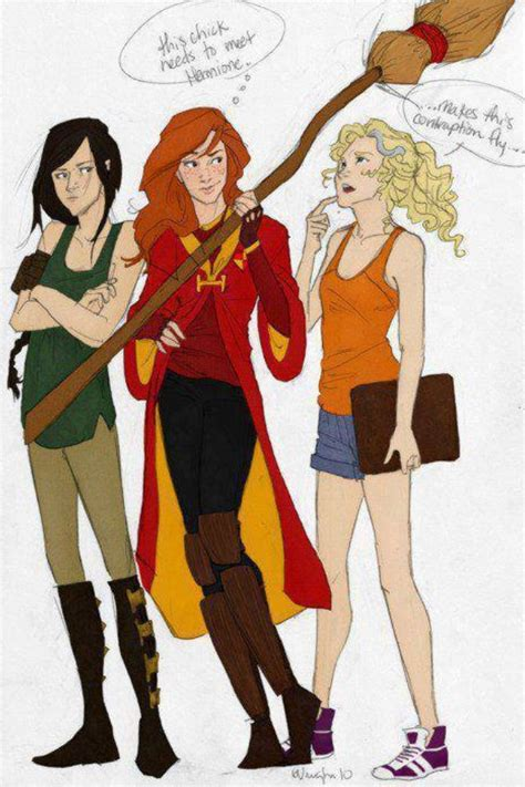 percy jackson potter harry crossover hunger games fan fandom memes annabeth pjo olympus funny heroes hermione drawing heroines wizards demigods