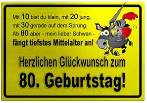 geburtstagssprüche zum 80 geburtstag gelbes schild mit esel und ritter zum 80 geburtstag geburtstagssprüche welt