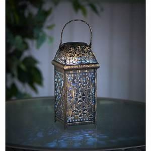 Wilko solar lantern moroccan metal at