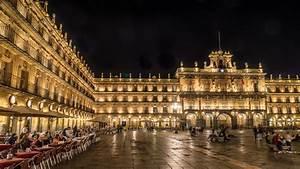 Plaza Mayor Salamanca At Night Spain