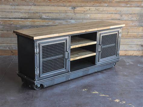 Boxcar Ellis Console   Vintage Industrial Furniture