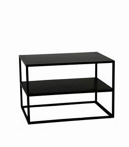 Table Basse Hauteur 60 Cm : table basse en m tal noir longueur 60cm x largeur 40cm x hauteur 40cm ~ Nature-et-papiers.com Idées de Décoration